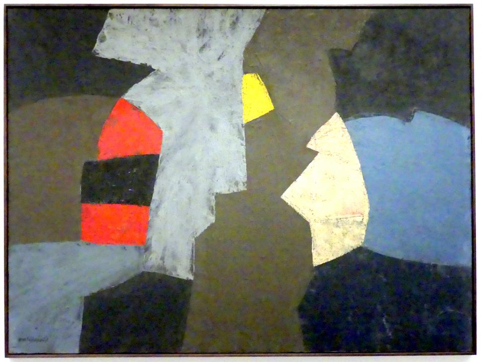 Serge Poliakoff: Komposition, 1956