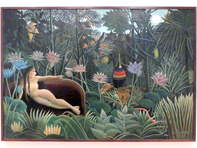 Henri Rousseau (Le Douanier): Der Traum, 1910