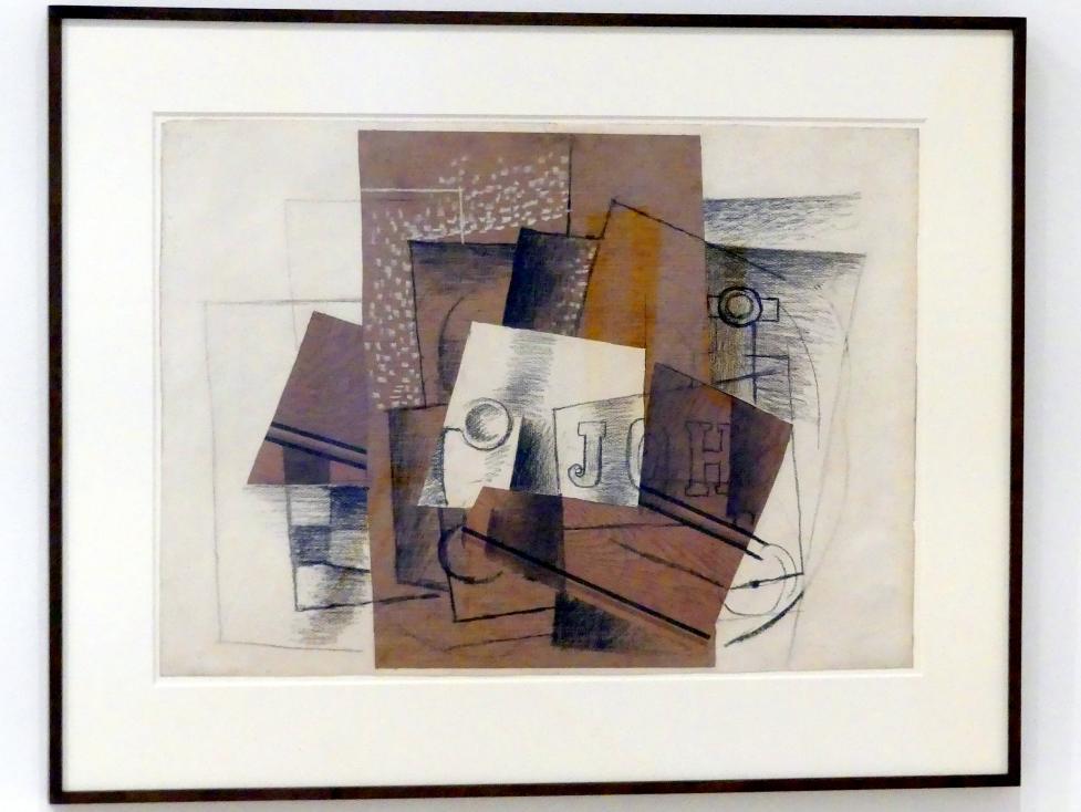 Georges Braque: Stillleben mit Glas und Briefen, 1914