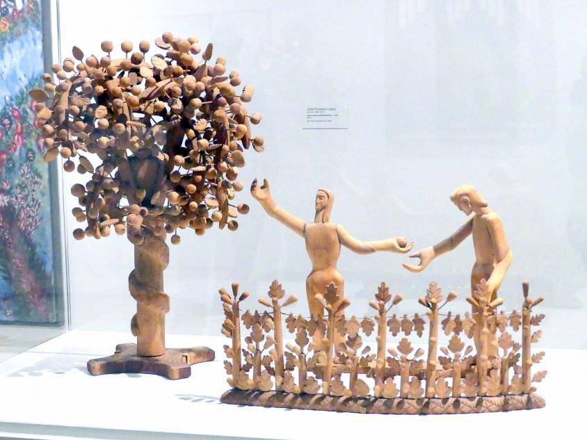 José Dolores López: Adam und Eva und die Schlange, um 1930