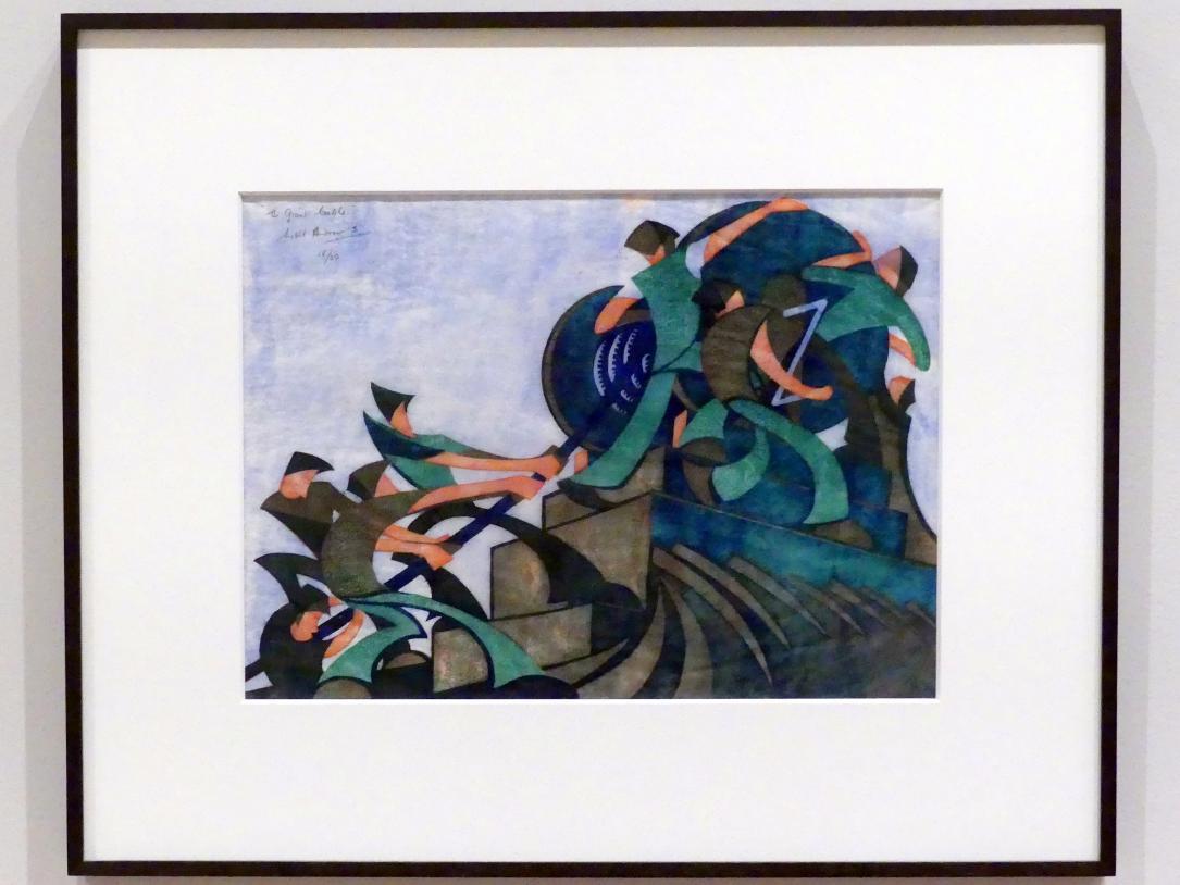 Sybil Andrews: Riesenkabel, 1931