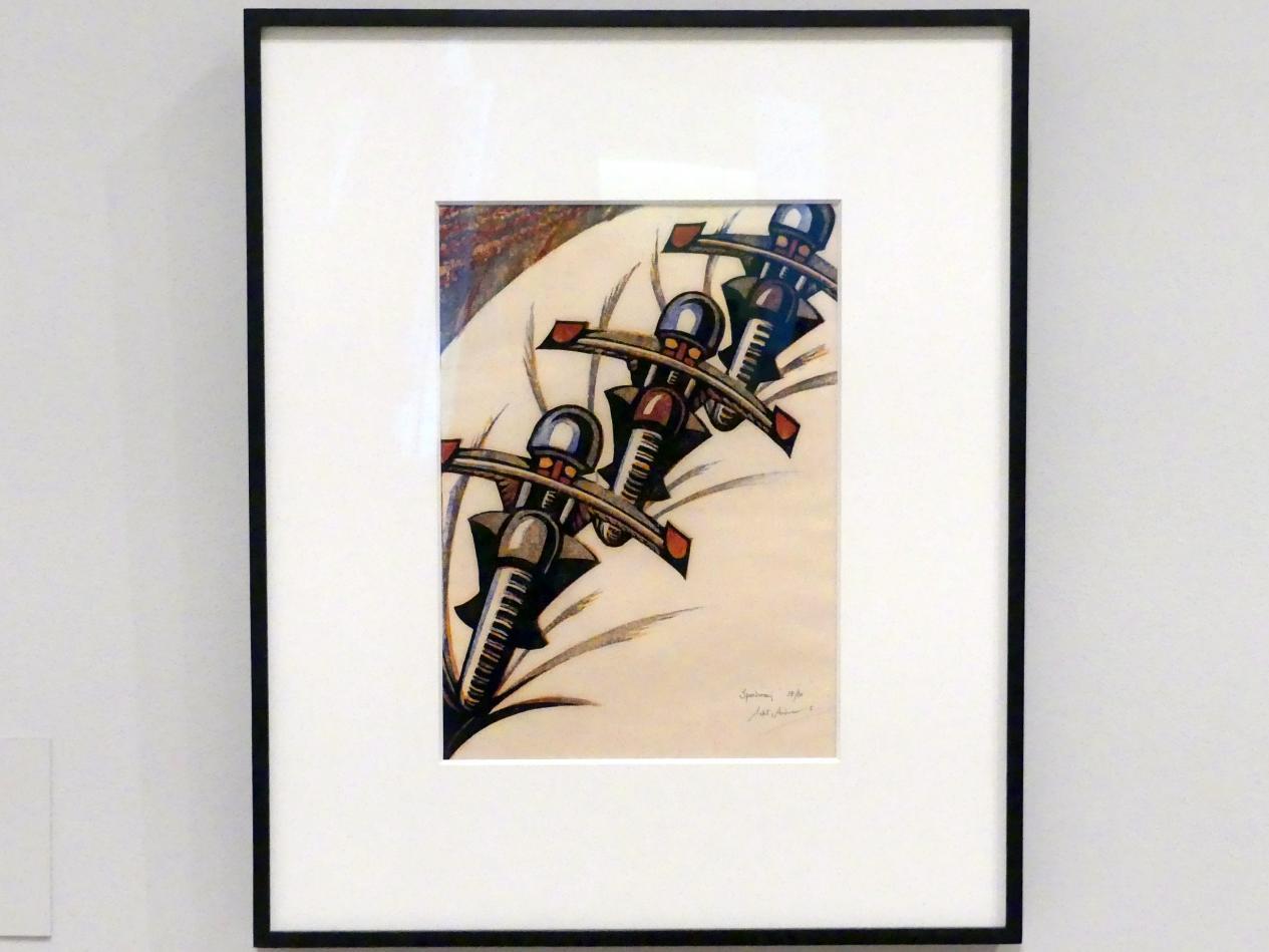 Sybil Andrews: Rennstrecke, 1934