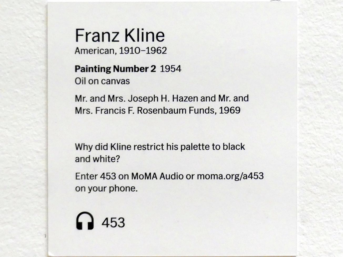 Franz Kline: Gemälde Nummer 2, 1954, Bild 2/2