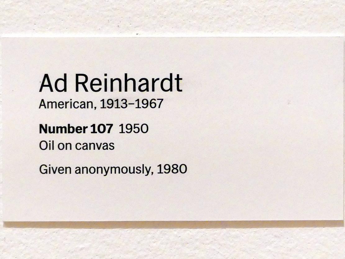 Ad Reinhardt: Nummer 107, 1950, Bild 2/2