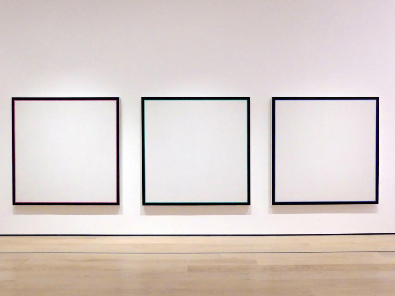 Jo Baer: Primäre Lichtgruppe: Rot, Grün, Blau, 1964 - 1965