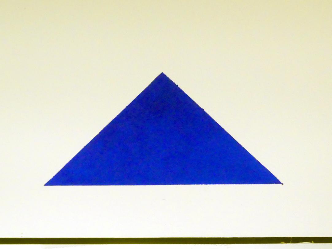 Blinky Palermo ( Peter Heisterkamp): Blaues Dreieck, 1969