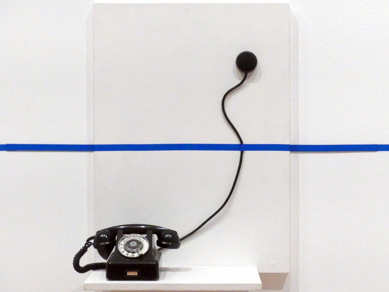 Edward Krasiński: Intervention mit einem Telefon, 1972