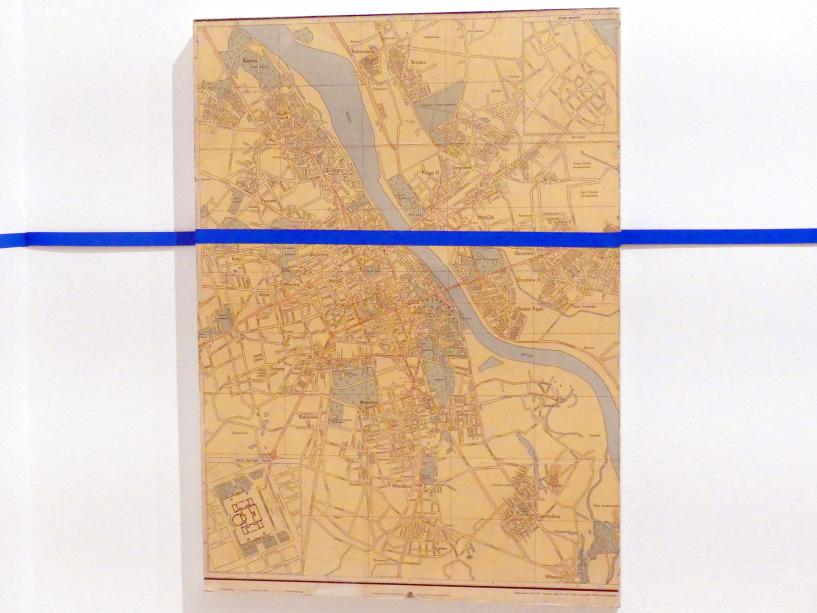 Edward Krasiński: Karte von Warschau, 1972