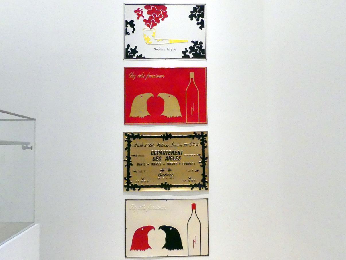 Marcel Broodthaers: Vier Schilder, 1968 - 1969