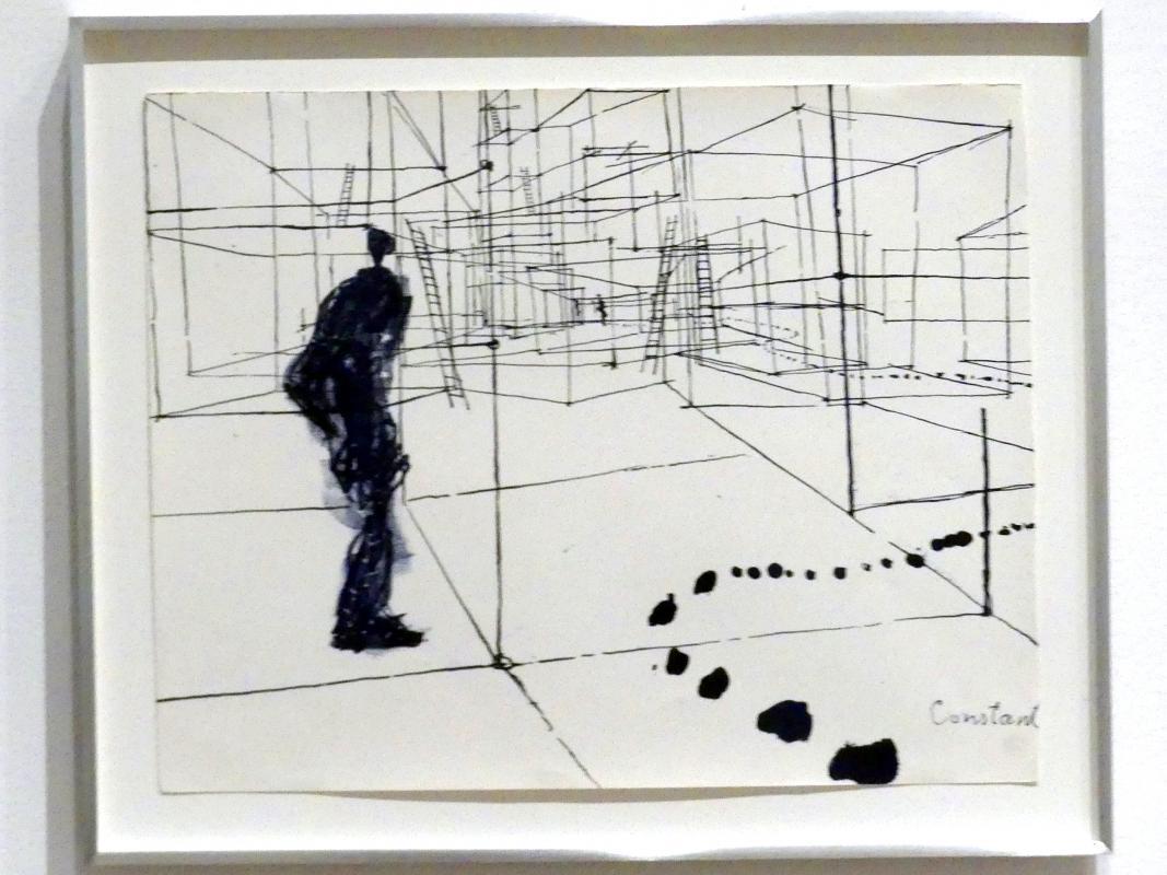 Constant (Constant Anton Nieuwenhuys): Ohne Titel von Labyrismen, 1968