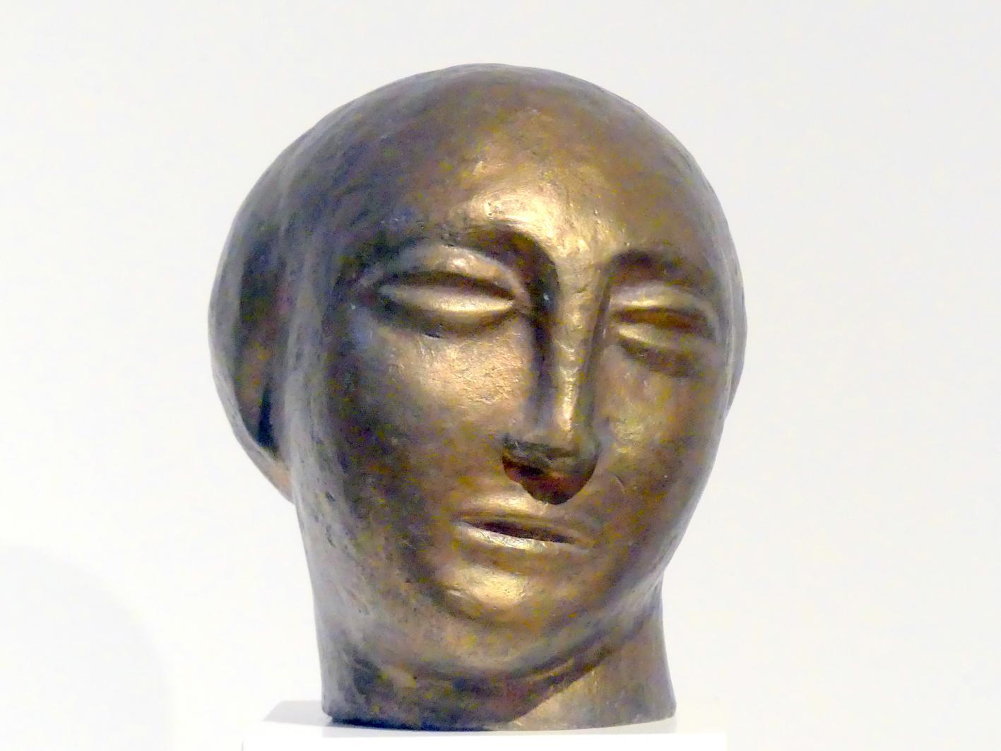 "Will Lammert: Kopf einer ""Goldenen Figur"", 1914"