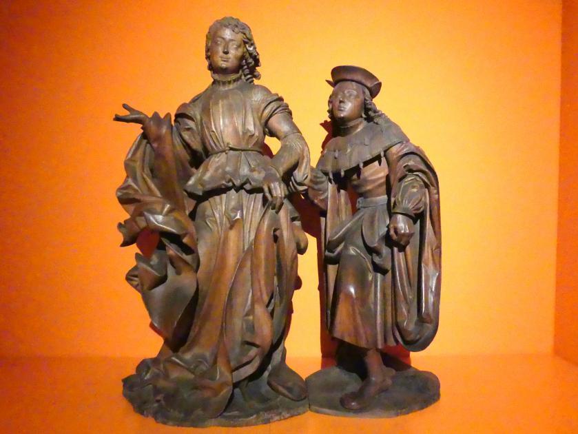 Veit Stoß: Erzengel Raphael und Tobias, 1516