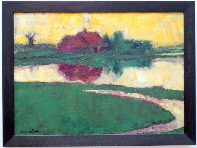 Emil Nolde: Landschaft mit Bauernhaus, 1922