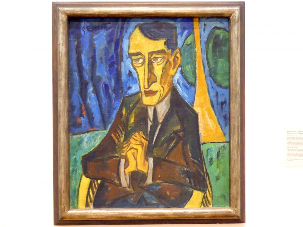 Karl Schmidt-Rottluff: Bildnis Leo F. (Lyonel Feininger), 1915