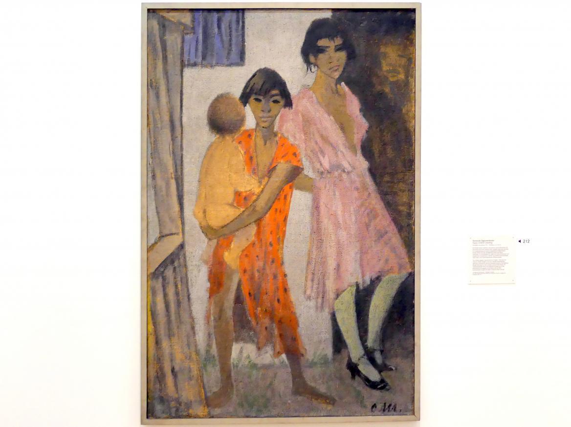 Otto Mueller: Stehende Zigeunerkinder, um 1926 - 1928