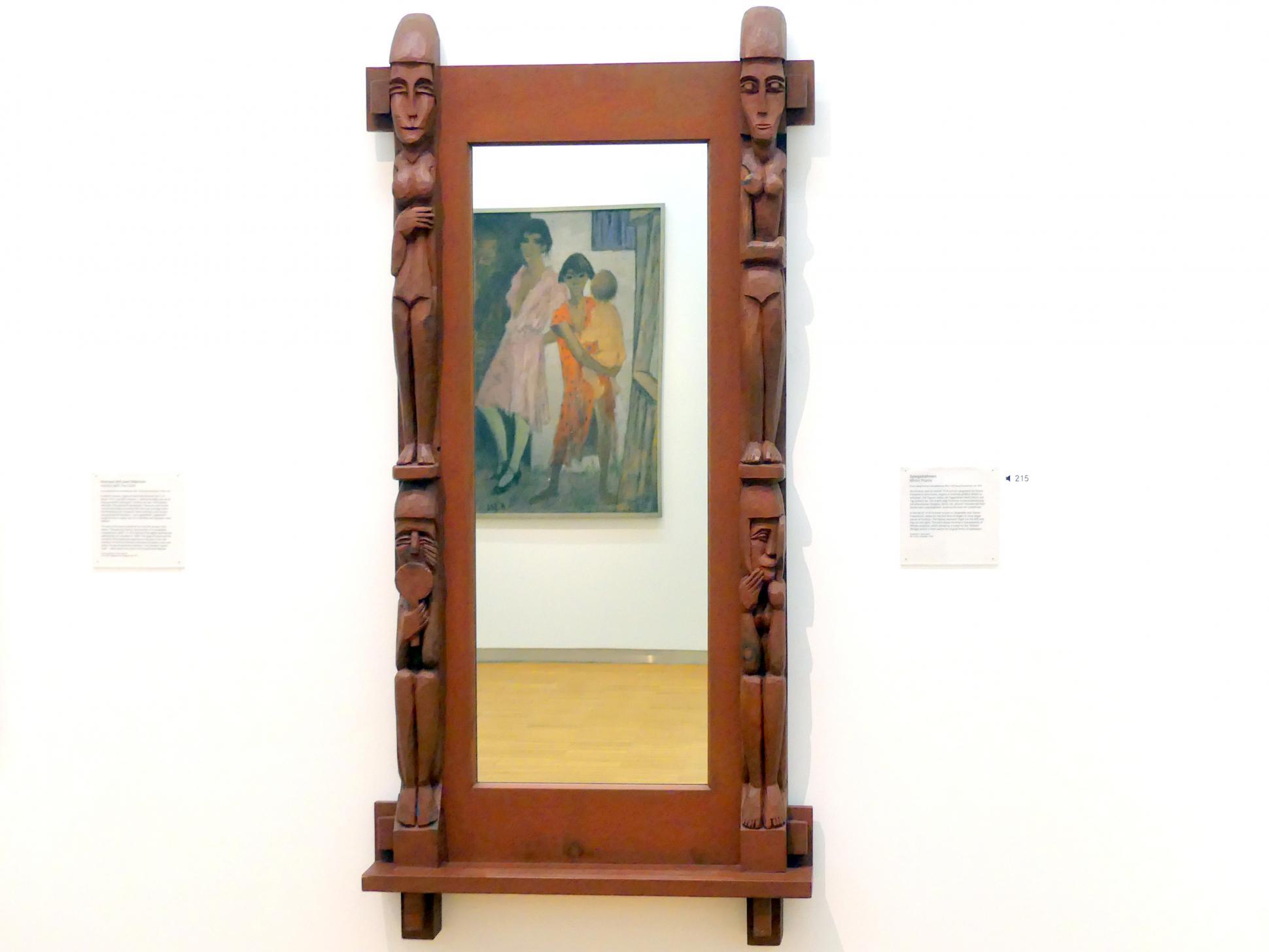 Ernst Ludwig Kirchner: Spiegelrahmen, um 1923