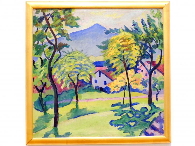 August Macke: Tegernsee Landschaft, 1910