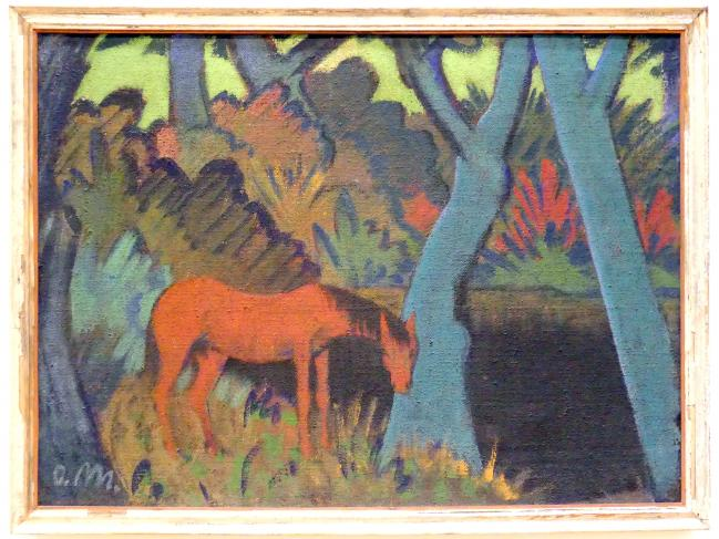 Otto Mueller: Zigeunerpferd am schwarzen Wasser, um 1928