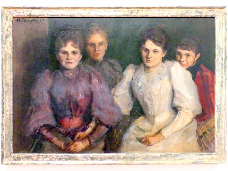 Max Slevogt: Gruppenbildnis der Schwestern Eilles, 1893