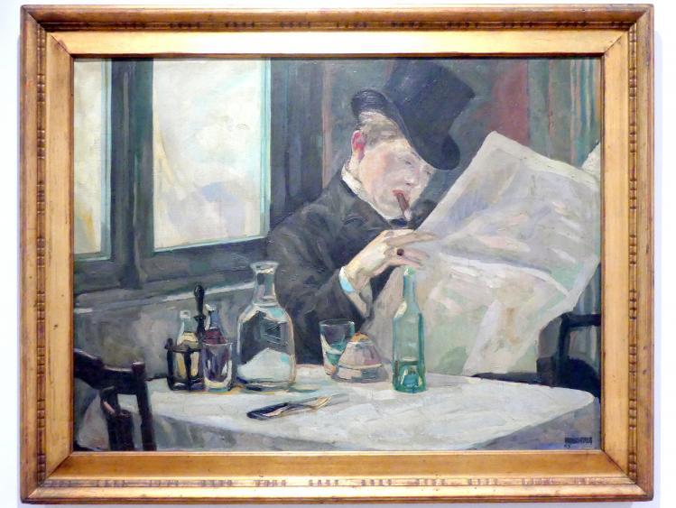Albert Weisgerber: Zeitungsleser, 1905