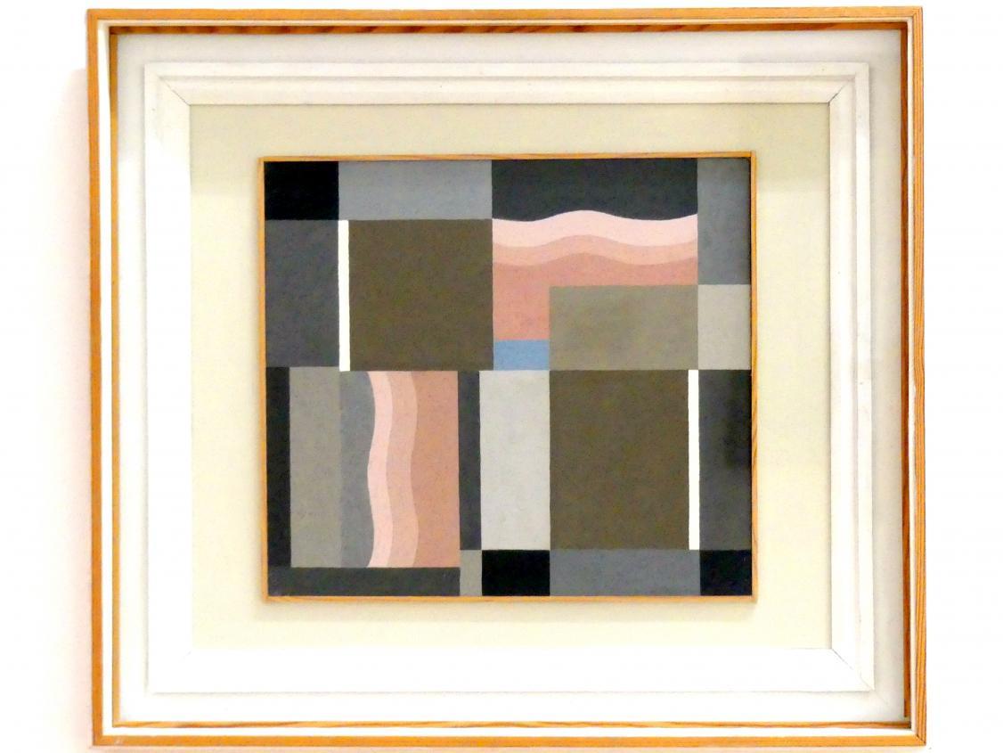 Rudolf Jahns: Komposition Grau, Rosa, Braun mit Blauem Akzent, 1925