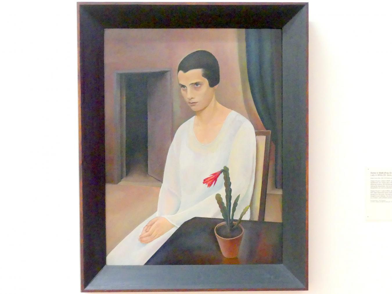 Sergius Pauser: Dame in Weiß (Frau Dr. Beck, geb. Sokal), 1927