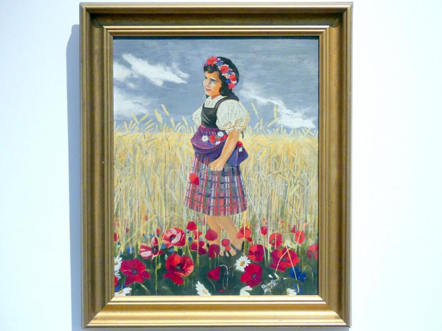 Elvira Bauer: Mädchen am Weizenfeld, 1935