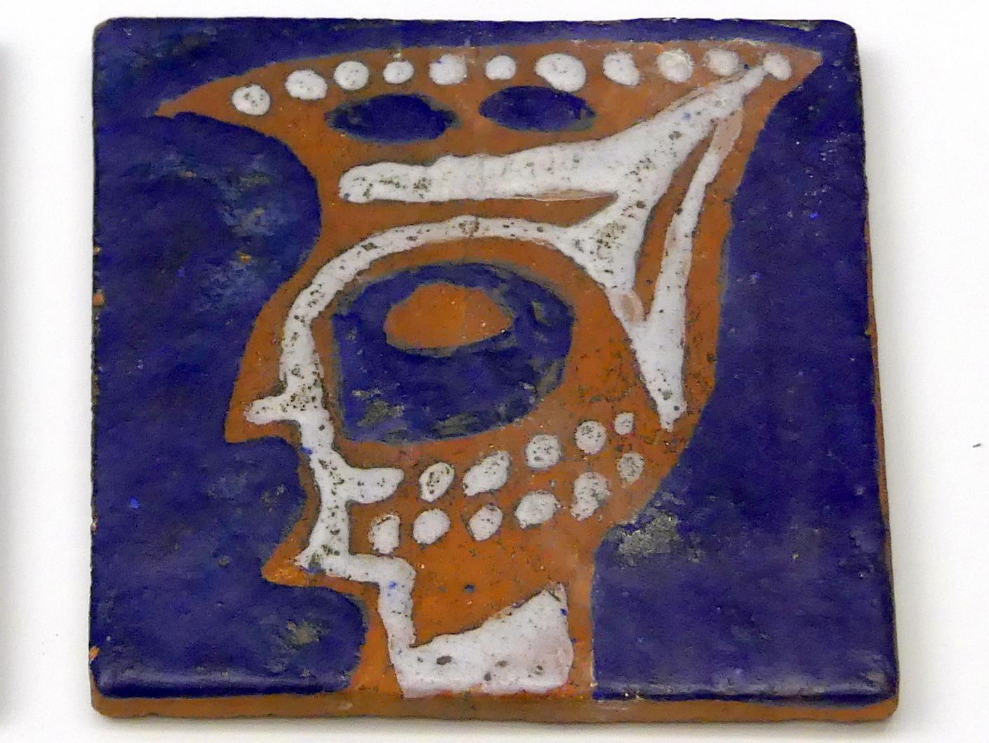 Werner Gilles: Phantastischer Kopf auf blauem Grund, um 1947 - 1949