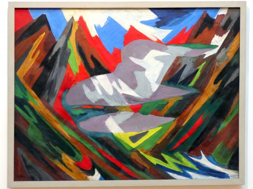 Ernst Wilhelm Nay: Lofotenlandschaft mit Wolke, 1938