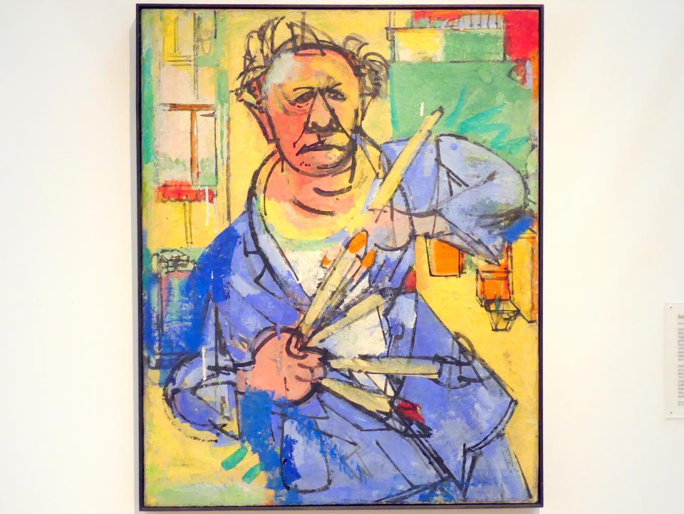 Hans Hofmann: Selbstporträt in blauem Mantel, 1942