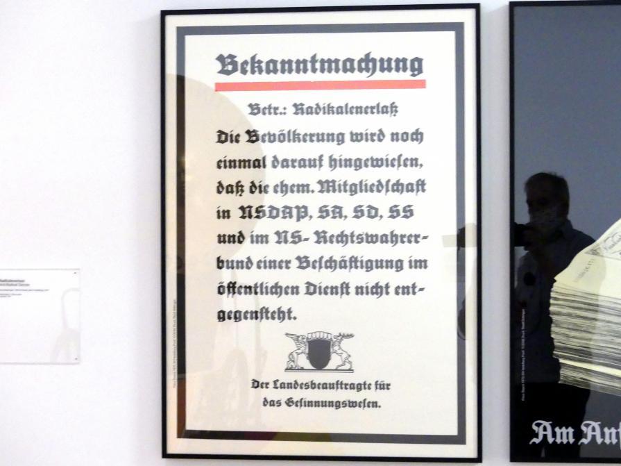 Klaus Staeck: Radikalenerlass, 1975