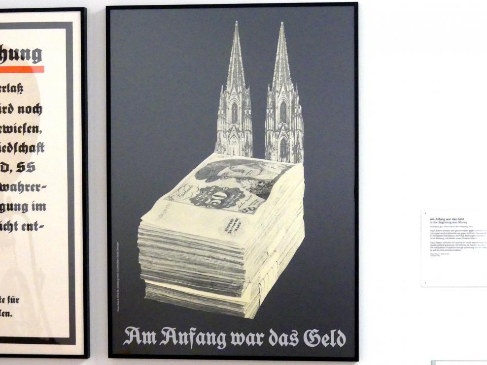 Klaus Staeck: Am Anfang war das Geld, 1973