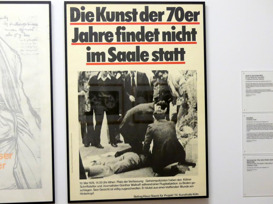 Klaus Staeck: Die Kunst der 70er Jahre findet nicht im Saale statt, 1974