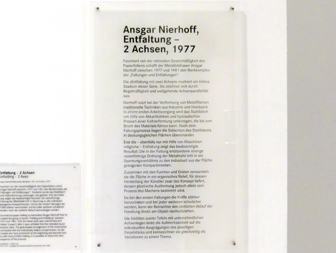 Ansgar Nierhoff: Entfaltung - 2 Achsen, 1977, Bild 5/5