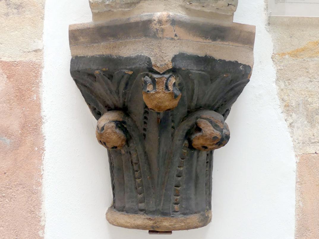 Eckkapitell mit Knollenlaubwerk, um 1260
