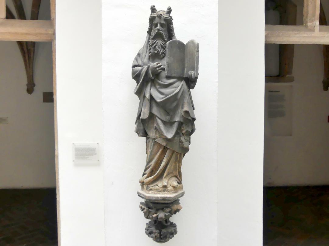 Moses mit den Gesetzestafeln, um 1385 - 1392