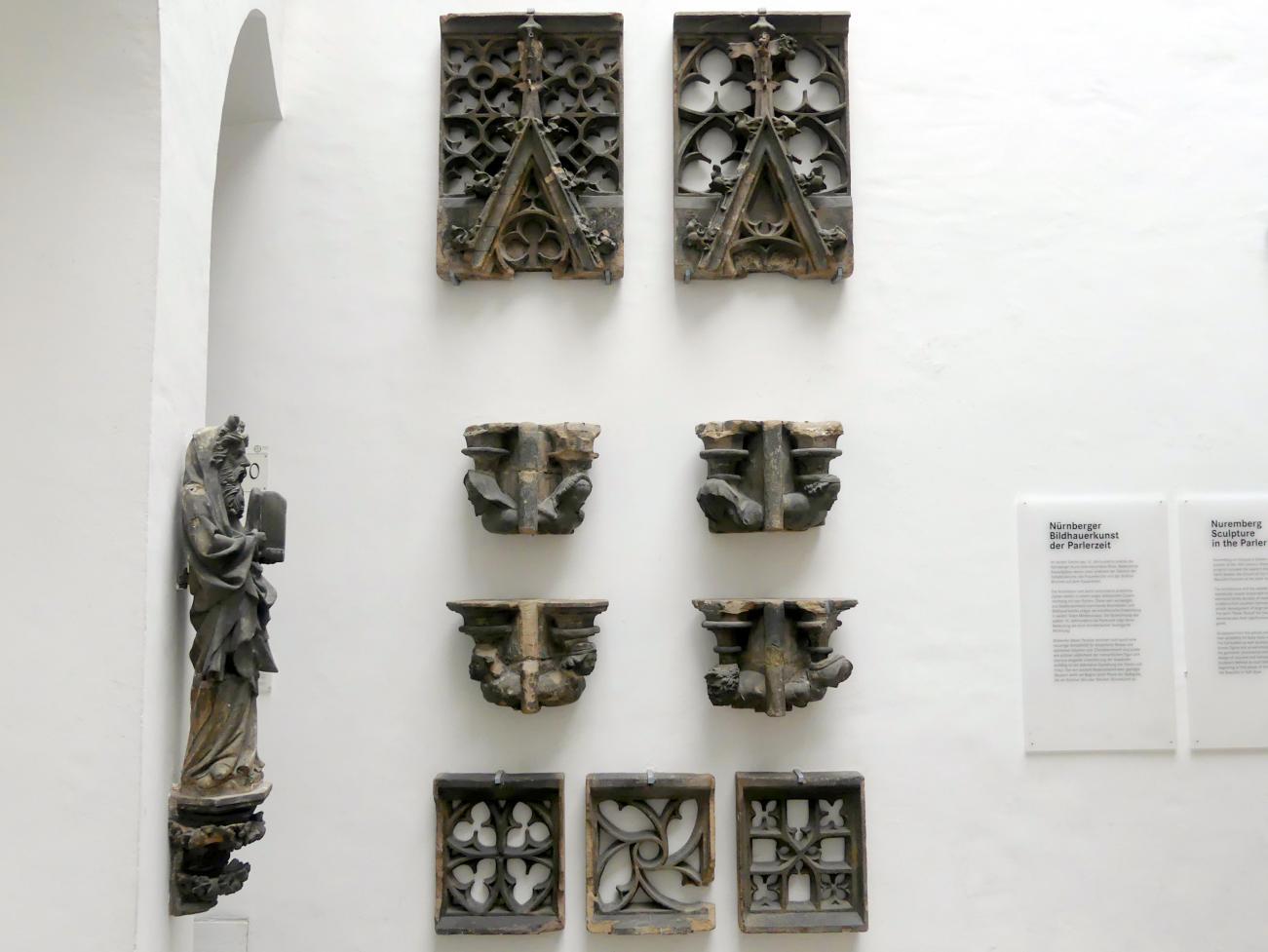Konsolbüsten und Maßwerk-Architektur, um 1385 - 1392