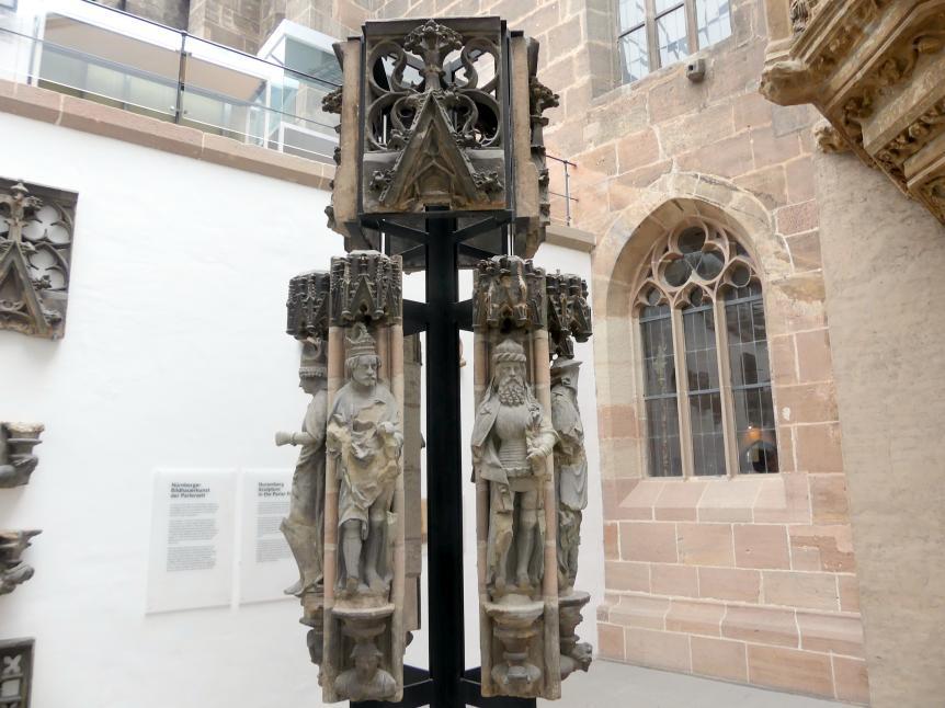 Fragmente der sieben Kurfürsten und der Neun Guten Helden, um 1385 - 1392