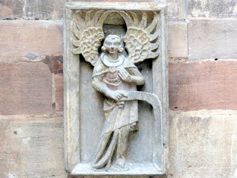 Hauszeichen mit einem Engel, um 1380