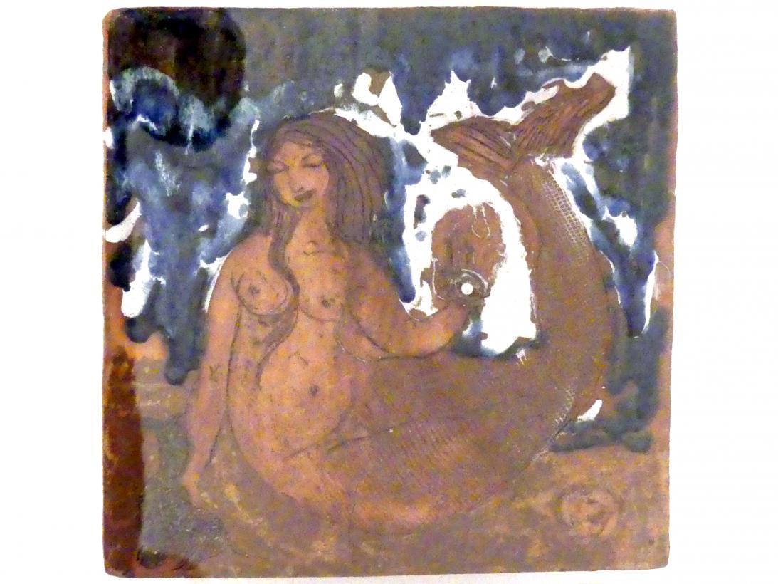 """Toni Heinrich: Fliese """"Nereide, Fisch und Perle"""", 1978"""