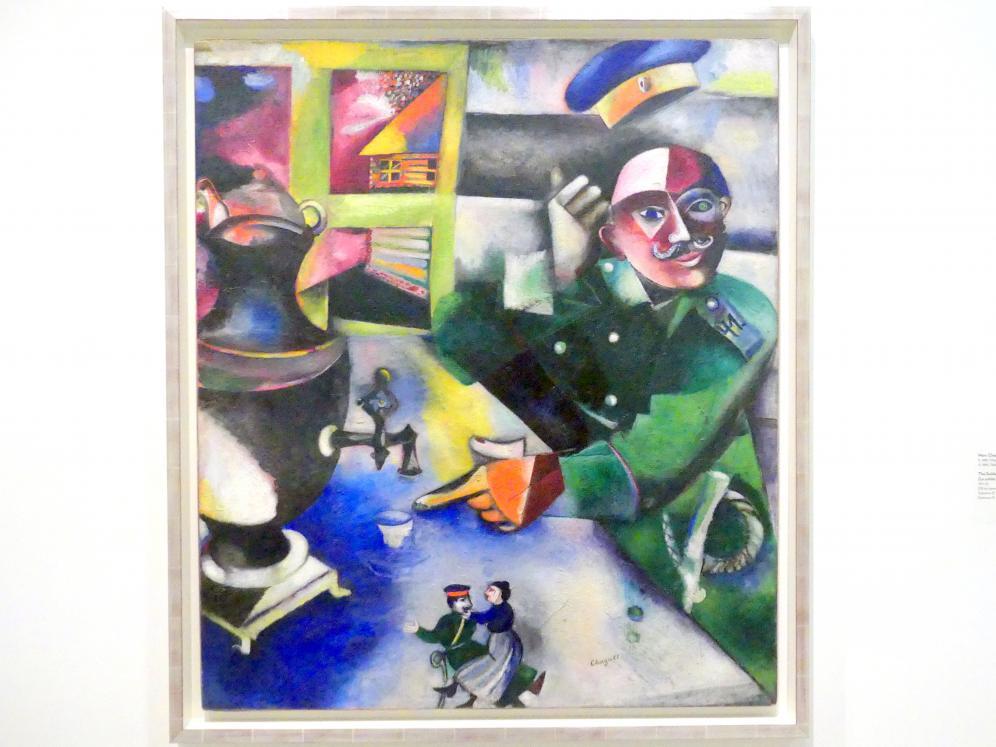Marc Chagall: Der Soldat trinkt, 1911 - 1912