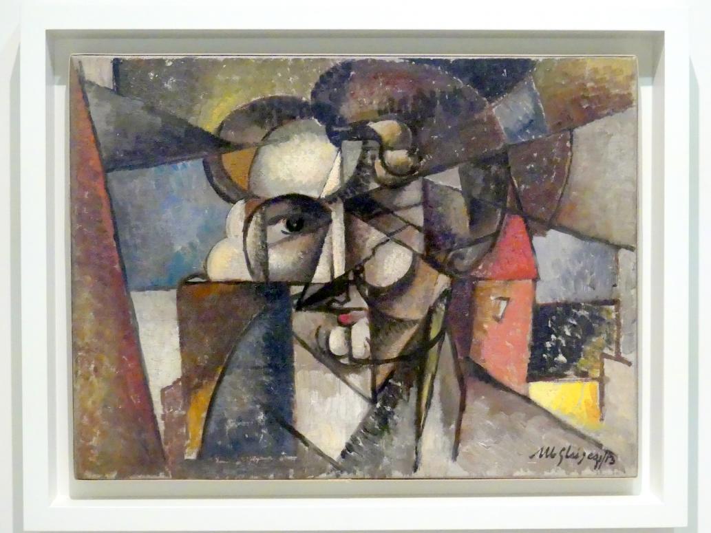 Albert Gleizes: Kopf in einer Landschaft, 1912 - 1913