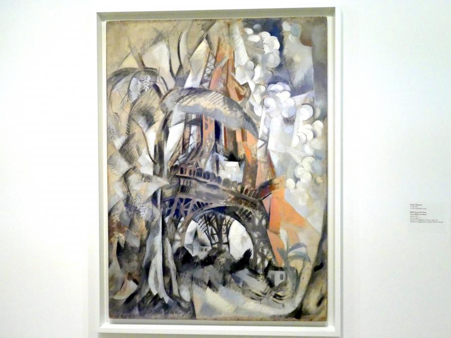 Robert Delaunay: Der Eiffelturm mit Bäumen, 1910