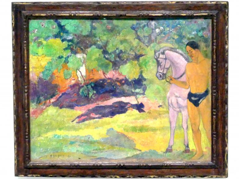 Paul Gauguin: Im Vanilla Grove, Mensch und Pferd, 1891