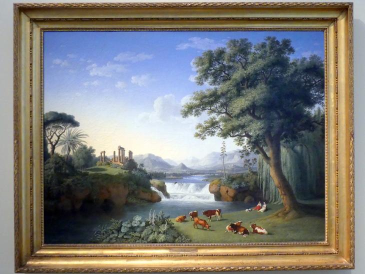 Jakob Philipp Hackert: Ideallandschaft mit Juno-Tempel aus Agrigent, 1794