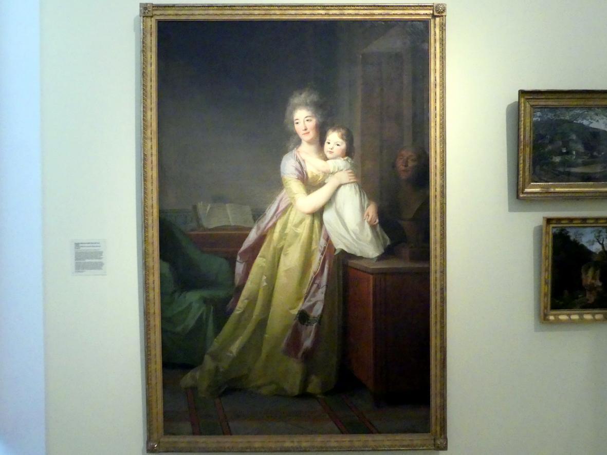 Johann Friedrich August Tischbein: Cornelia Adrienne Gräfin Bose mit ihrer Tochter, 1798
