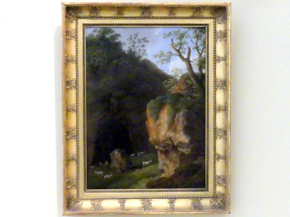 Jakob Philipp Hackert: Ansicht der Ziegenhöhle bei der Quelle auf dem Mons Lucretilis, 1805