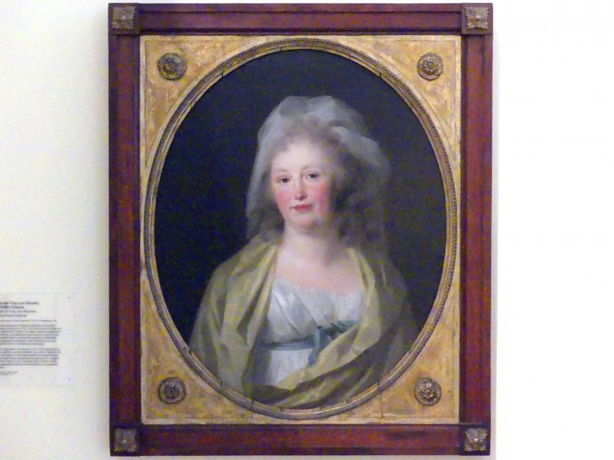 Johann Friedrich August Tischbein: Bildnis der Frau von Raumer, geb. Gräfin Küssow, 1798