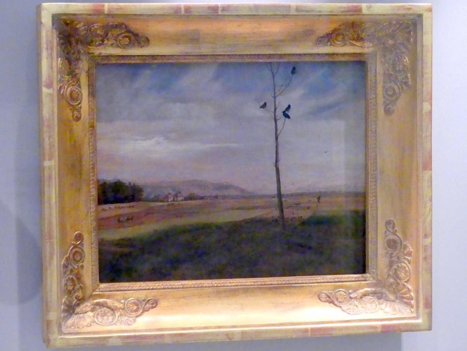 Johan Christian Clausen Dahl: Blick über die Felder bei Dresden, 1830