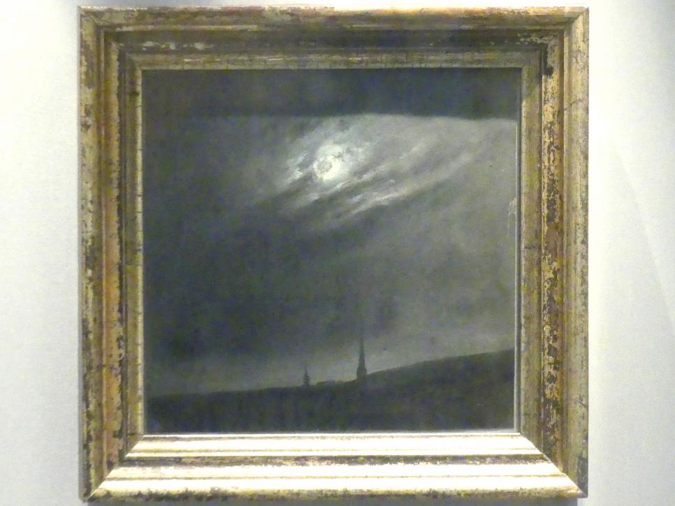 Johan Christian Clausen Dahl: Mondnacht (über Dresden), 1827